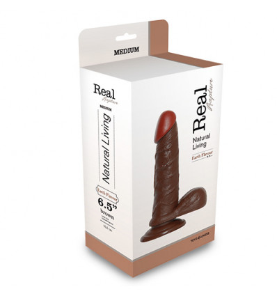 REALISTIC DILDO REAL RAPTURE BROWN 6.5""""""""