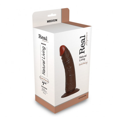 REALISTIC DILDO REAL RAPTURE BROWN 7""""